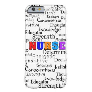 Enfermera que describe los regalos de las palabras funda de iPhone 6 barely there