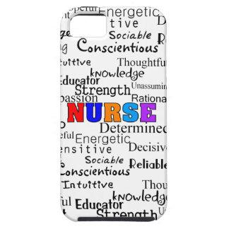 Enfermera que describe los regalos de las palabras funda para iPhone 5 tough