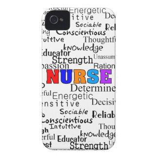 Enfermera que describe los regalos de las palabras iPhone 4 Case-Mate cárcasas