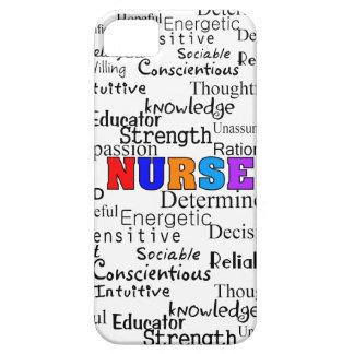 Enfermera que describe los regalos de las palabras iPhone 5 fundas