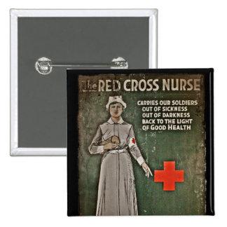 Enfermera que pide las donaciones WWI Pins