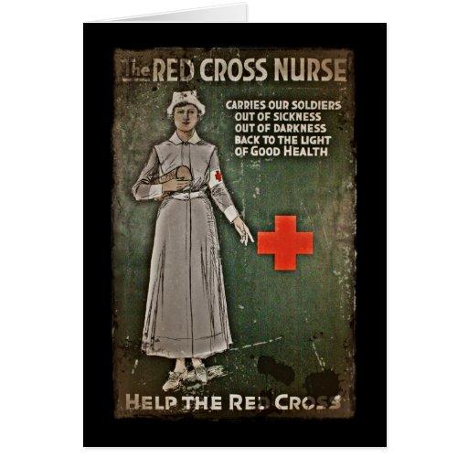 Enfermera que pide las donaciones WWI Tarjeta De Felicitación
