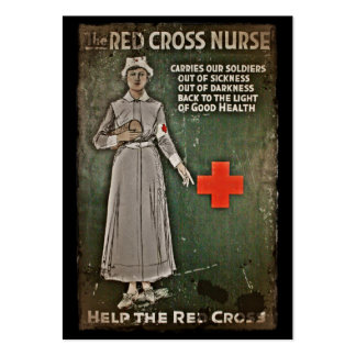 Enfermera que pide las donaciones WWI Tarjeta De Visita