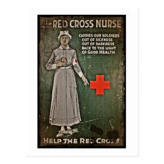 Enfermera que pide las donaciones WWI Postal