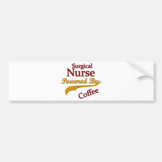 Enfermera quirúrgica accionada por el café pegatina para auto