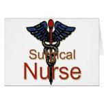 Enfermera quirúrgica tarjeta