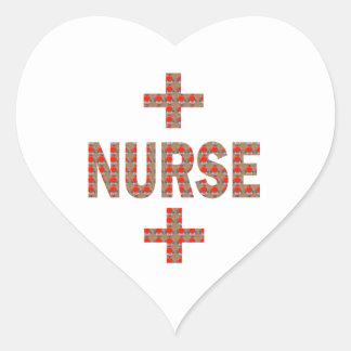 ENFERMERA: REGALOS de la caridad de la medicina Pegatina En Forma De Corazón