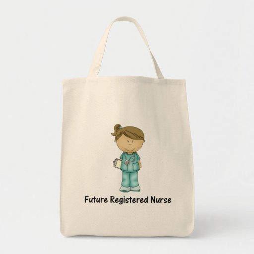 enfermera registradoa del futuro bolsa tela para la compra