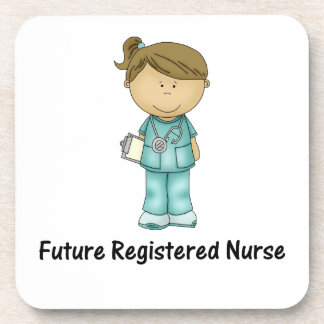 enfermera registradoa del futuro posavasos
