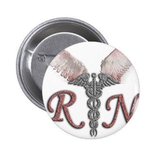 Enfermera registradoa del RN con las alas del Pin Redondo 5 Cm