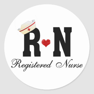 Enfermera registradoa del RN Pegatina Redonda