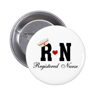 Enfermera registradoa del RN Pin Redondo De 2 Pulgadas