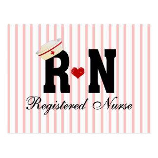 Enfermera registradoa del RN Tarjeta Postal