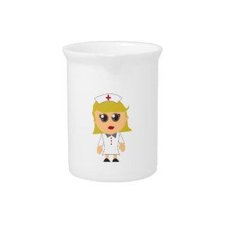 Enfermera registradoa jarron