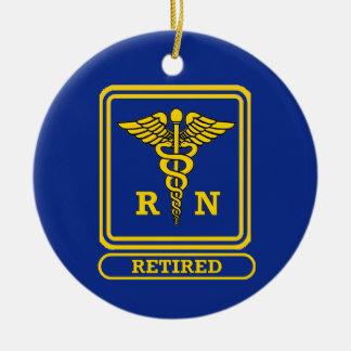 Enfermera registradoa jubilada ornamentos de reyes magos