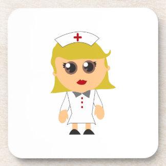 Enfermera registradoa posavasos