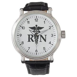 Enfermera registradoa reloj