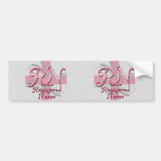 Enfermera registradoa, remolinos rosados de la pegatina para auto