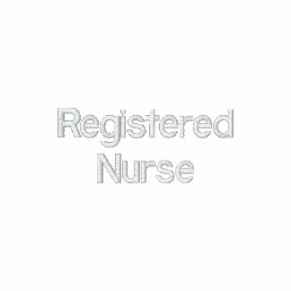 Enfermera registradoa - RN en la manga izquierda