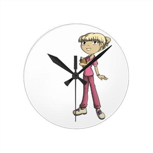 Enfermera Reloj Redondo Mediano