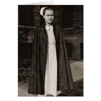 Enfermera retra de los años 30 tarjeta pequeña