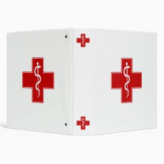 "Enfermera Rod de Asclepius Carpeta 1 1/2"""