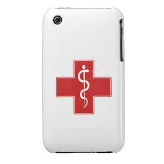 Enfermera Rod de Asclepius Case-Mate iPhone 3 Carcasa