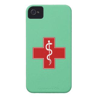 Enfermera Rod de Asclepius iPhone 4 Case-Mate Coberturas