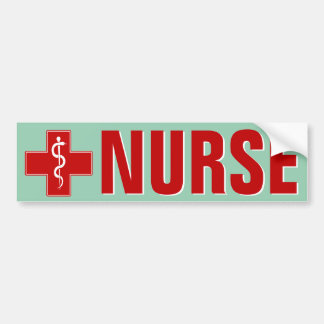 Enfermera Rod de Asclepius Pegatina Para Auto