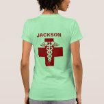 Enfermera Rod de la plantilla del nombre del Camisetas