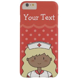 Enfermera rubia linda con el pelo largo funda de iPhone 6 plus barely there