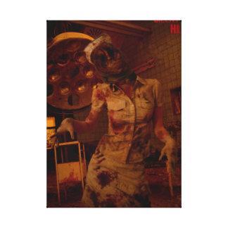 Enfermera silenciosa de la colina lienzo envuelto para galerías