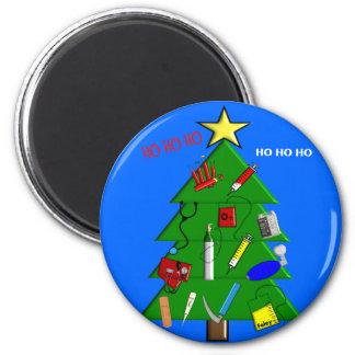 Enfermera/tarjetas de Navidad y regalos médicos de Imán Redondo 5 Cm