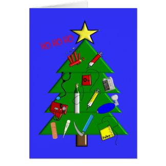 Enfermera/tarjetas de Navidad y regalos médicos Tarjeta De Felicitación