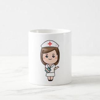 Enfermera tradicional taza básica blanca