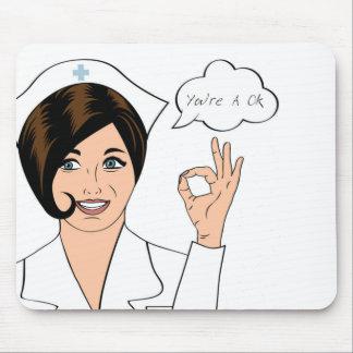 enfermera usted es una autorización alfombrilla de raton