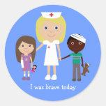 Enfermera y los niños lindos era pegatinas valient