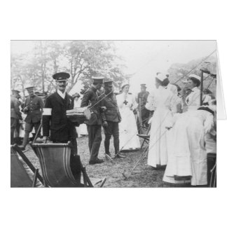 Enfermeras británicas de los militares de los días tarjeta de felicitación