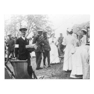 Enfermeras británicas de los militares de los días tarjeta postal