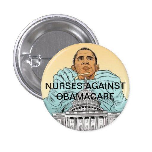 Enfermeras contra Obamacare Pin Redondo 2,5 Cm