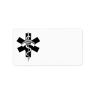Enfermeras de cuidado de LPN Etiquetas De Dirección