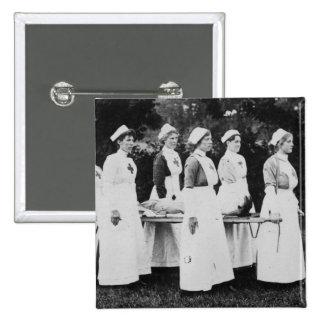 Enfermeras de la Primera Guerra Mundial con el ens Pin Cuadrada 5 Cm