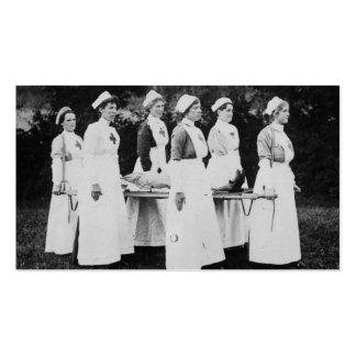 Enfermeras de la Primera Guerra Mundial con el ens Plantillas De Tarjeta De Negocio