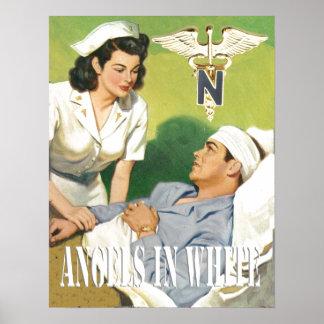 Enfermeras de los militares - ángeles en el poster