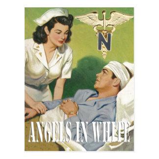 Enfermeras de los militares - ángeles en la postal