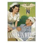 Enfermeras de los militares - ángeles en la tarjet