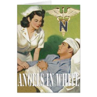 Enfermeras de los militares - ángeles en la tarjet tarjeta