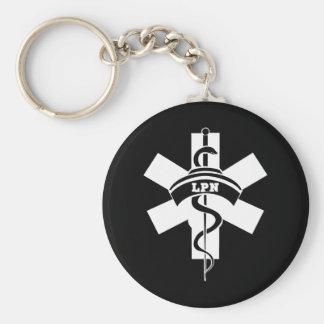 Enfermeras de LPN Llavero Redondo Tipo Pin