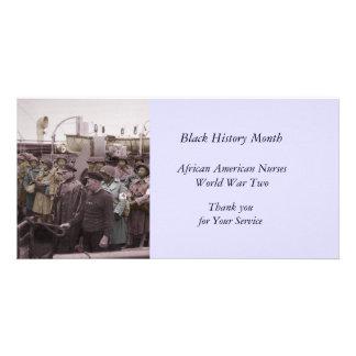 Enfermeras del afroamericano en a bordo tarjetas fotográficas personalizadas