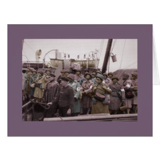 Enfermeras del afroamericano en el buque del tarjeta de felicitación grande